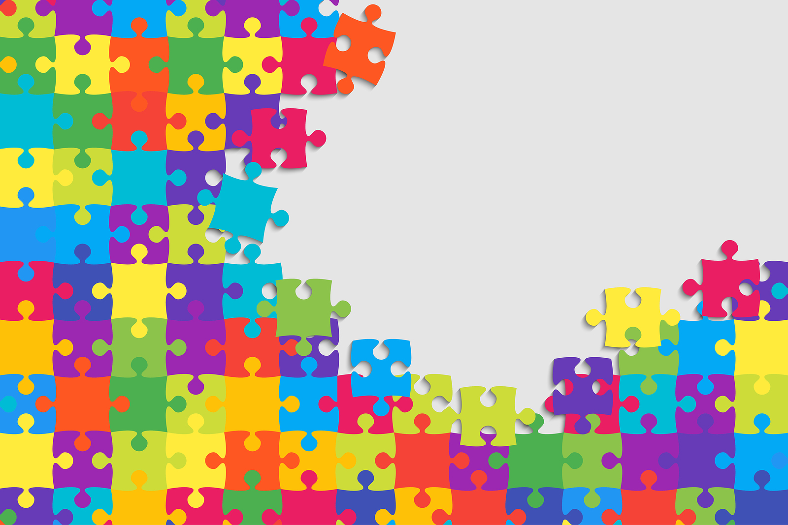 Colorful Background Puzzle. Infographic Presentation. Jigsaw Puz