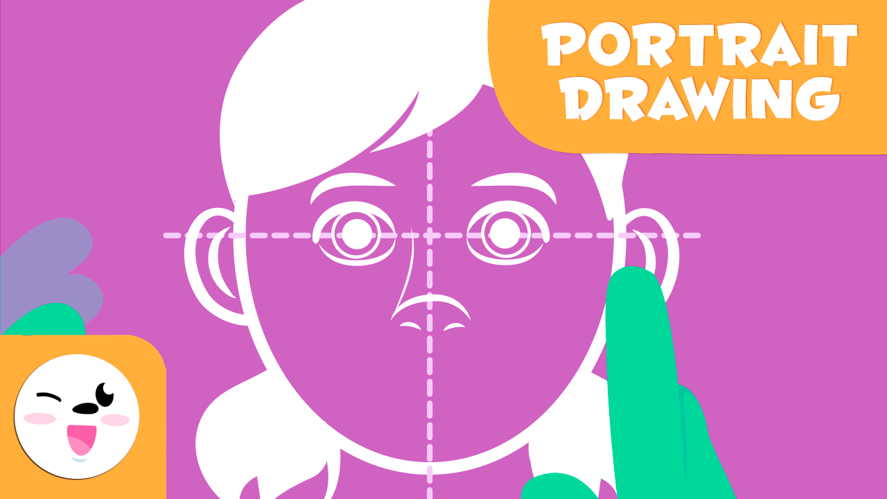 Educational video to learn how to draw portraits step by step