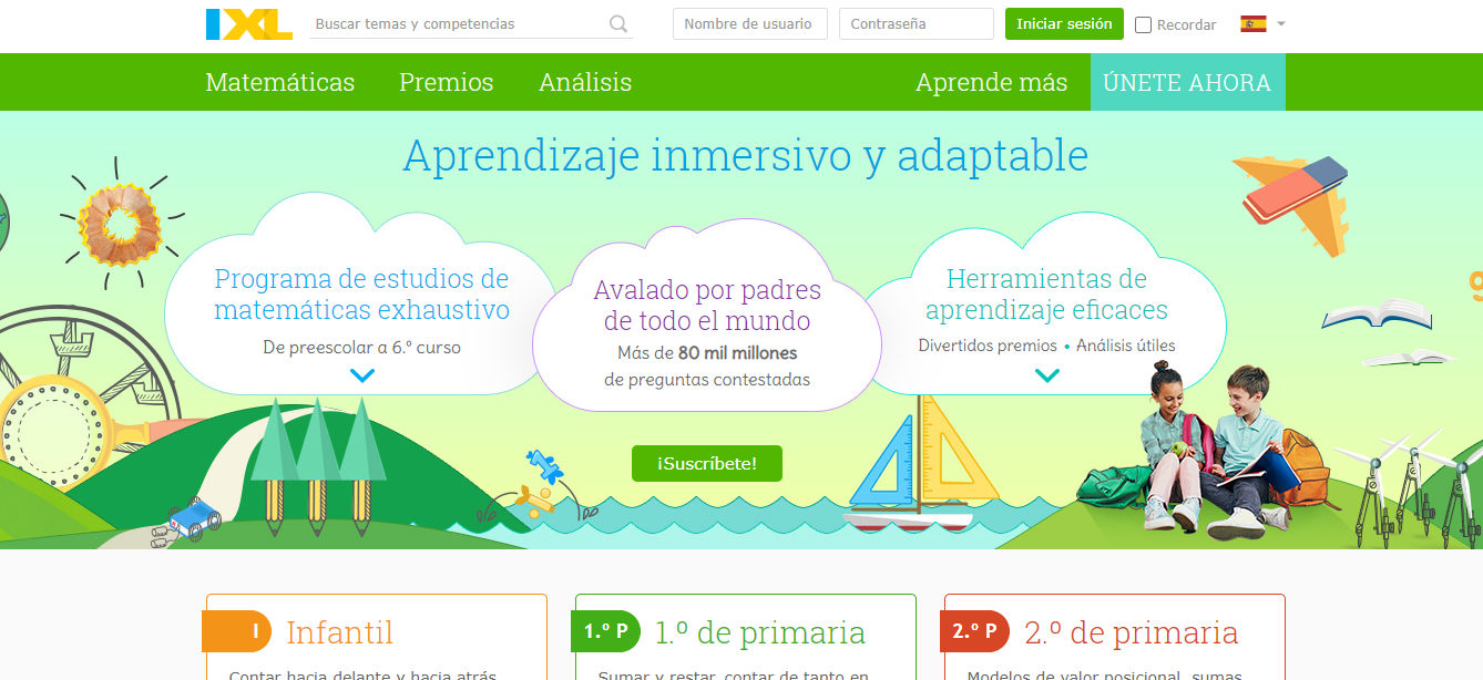 Recursos educativos digitales IXL