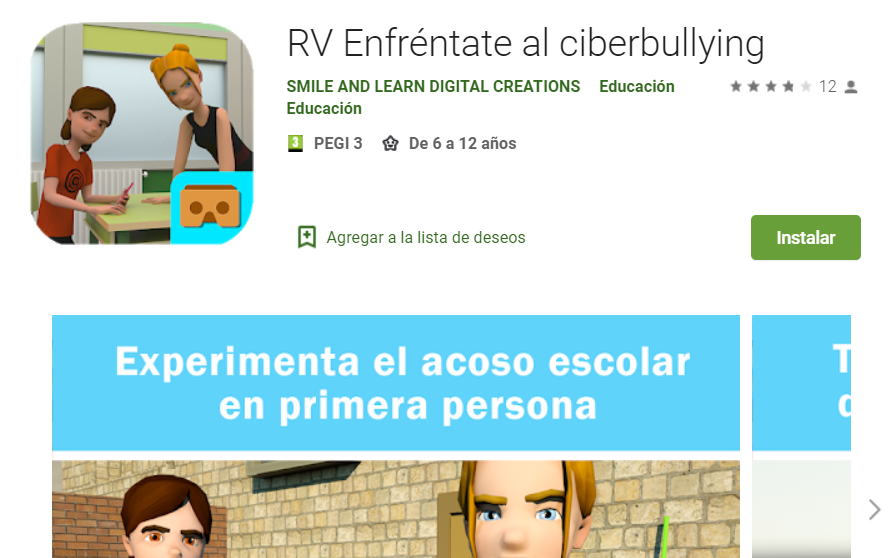 Recursos educativos digitales Realidad virtual Enfréntate al ciberbullying